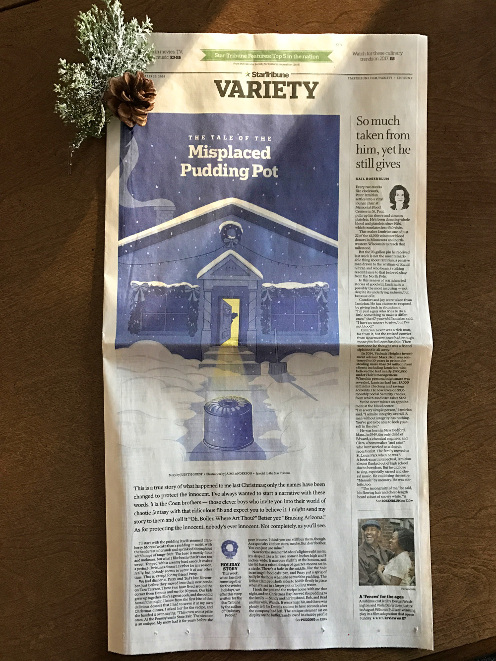 star tribune holiday essay jaime anderson illustration star tribune holiday essay the misplaced pudding pot